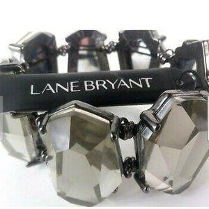 Lane Bryant Stretch Stone Gunmetal Bracelet
